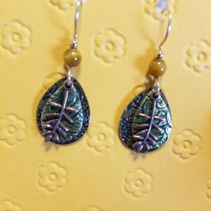 Gorgeous Silver Forest dangle earrings
